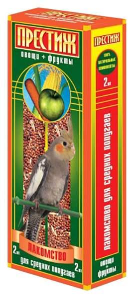 Лакомство для птиц Престиж, овощи, фрукты, 2шт