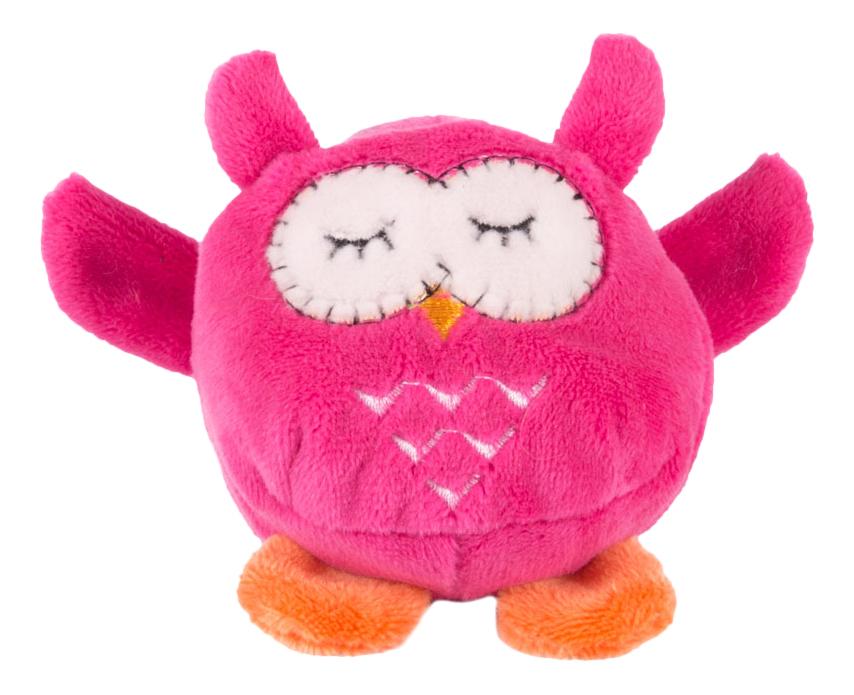 Мягкая игрушка Button Blue Мячик - Розовая сова, 7 см