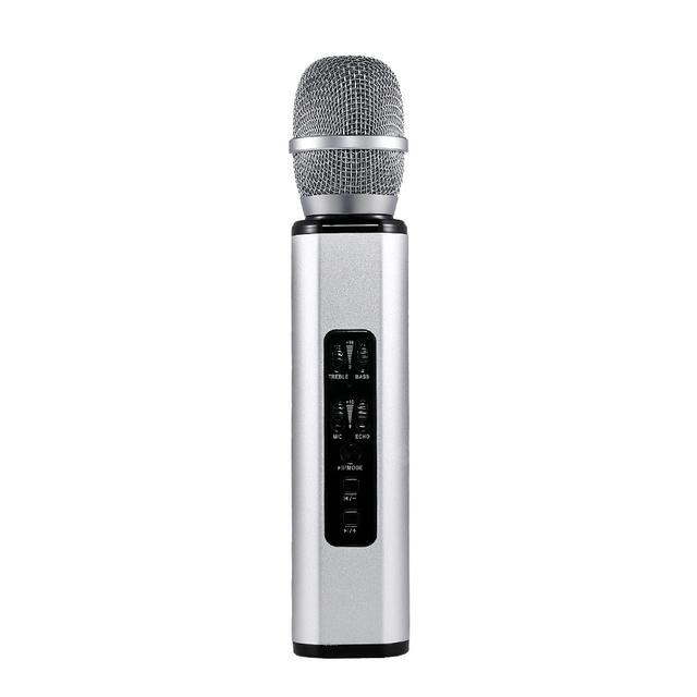 Беспроводной караоке микрофон K6 Silver