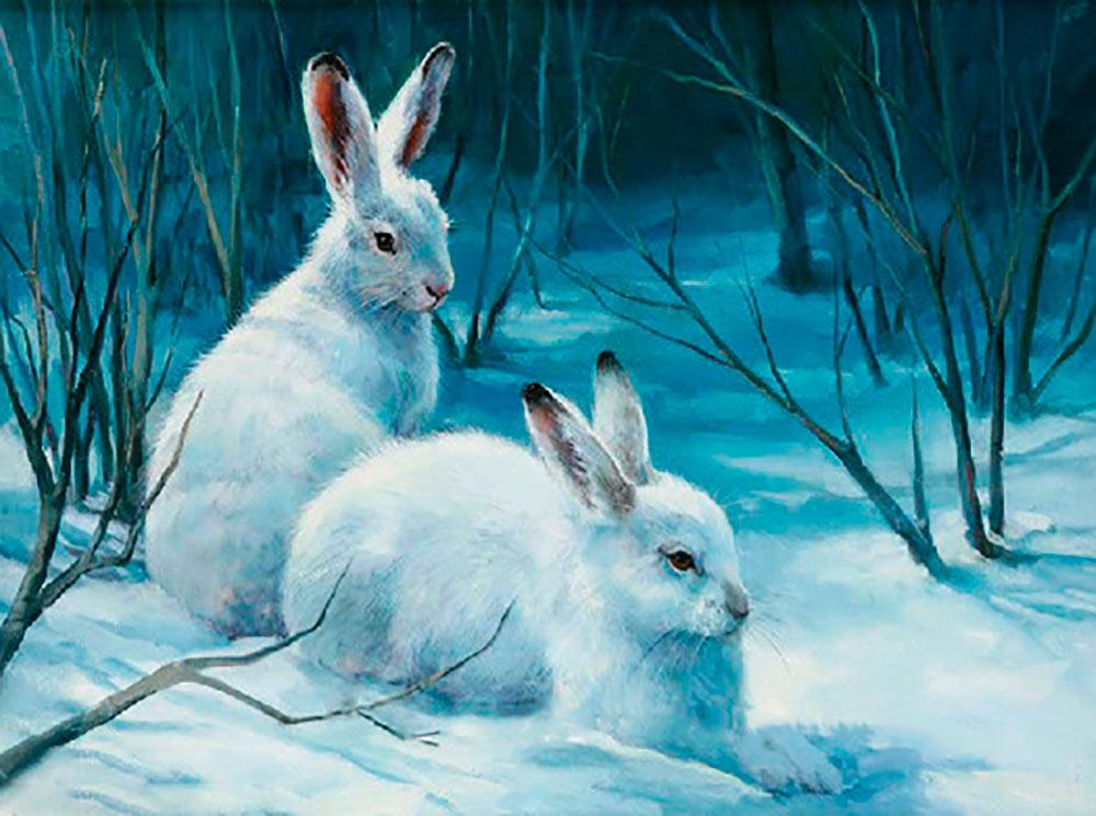 картина с зайцами специалистов
