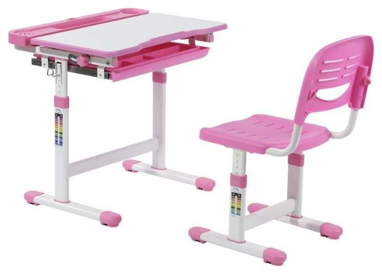 Растущая парта и стул-трансформер FunDesk Cantare Pink