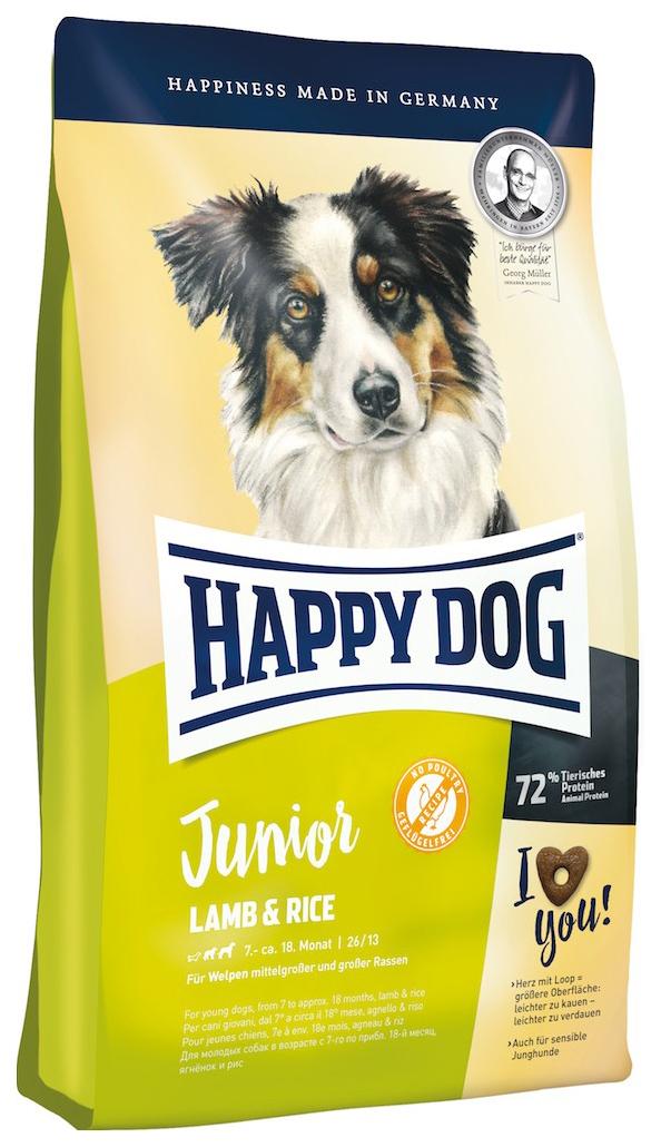 Миниатюра Сухой корм для щенков Happy Dog Junior Lamb & Rice, гипоаллергенный, ягненок и рис, 10кг №1
