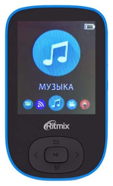 Мультимедиа плеер с поддержкой Bluetooth Ritmix RF-5100BT 8Gb Black/Light Blue