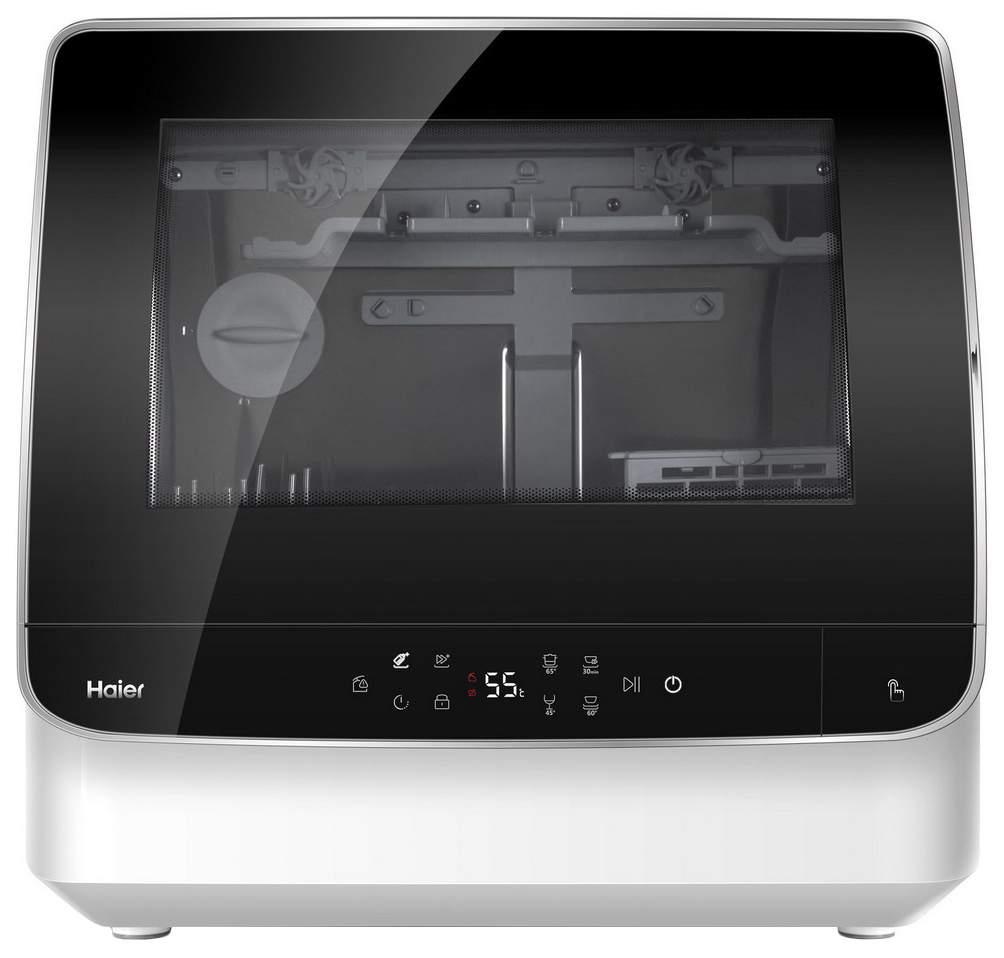 Посудомоечная машина компактная Haier DW2-STFBBRU white/black