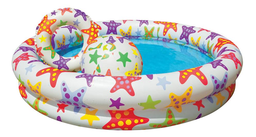 Бассейн надувной Intex Звезды