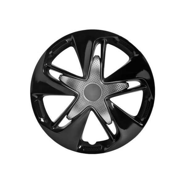 Колпаки колесные AIRLINE 16 дюймов; Супер Астра, серебристо-черные, карбон