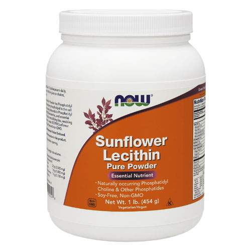 NOW Sunflower Lecithin Pure Powder 454 г
