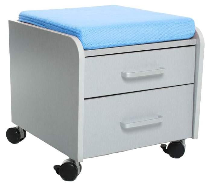 Тумбочка Comf-Pro BD-C2 (цвет обивки: голубой, цвет каркаса: серый, цвет товара: серый)