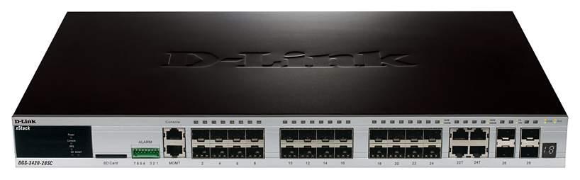Коммутатор D-Link xStack DGS-3420-28SC Черный