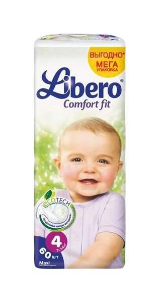 Подгузники Libero Comfort Fit Maxi 4 7-14 кг 60 шт.