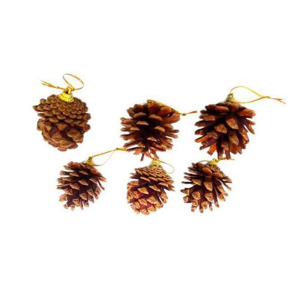 Шишки декоративные Новогодняя сказка 973075 3 см