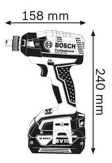 Аккумуляторный гайковерт Bosch GDX 18 V-EC 06019B9102 БЕЗ АККУМУЛЯТОРА И З/У