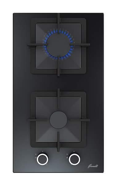 Встраиваемая варочная панель газовая Fornelli PGT 30 CALORE Black