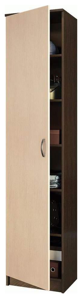 Платяной шкаф MFMaster МСТ-ПДО-Ш1-20 35х45х200, венге/дуб молочный