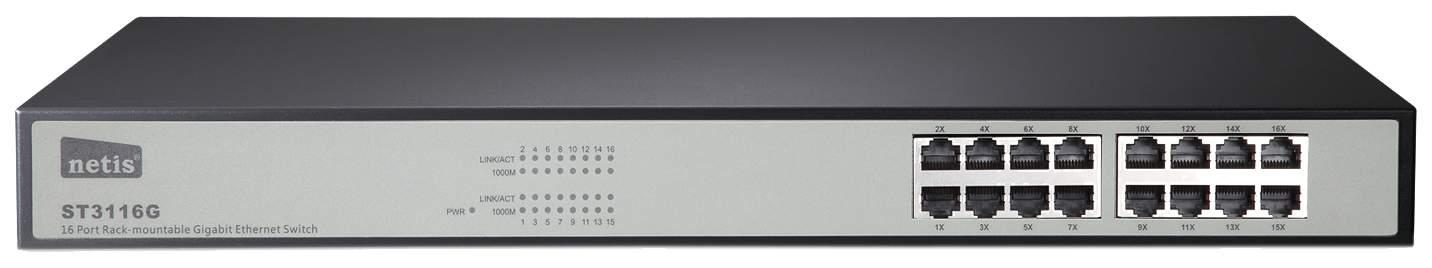 Коммутатор NETIS ST3116G Черный