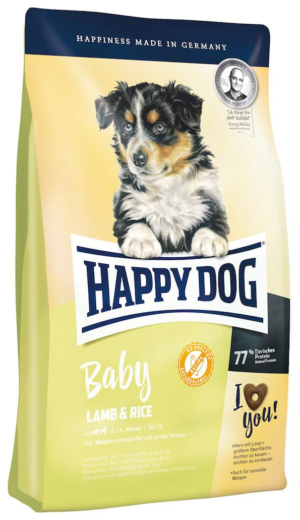 Сухой корм для щенков Happy Dog Baby Lamb & Rice, гипоаллергенный, ягненок и рис, 10кг