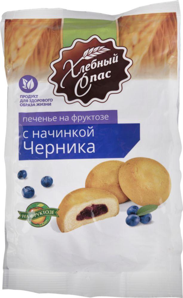 Печенье Хлебный Спас с начинкой черника на фруктозе 200 г