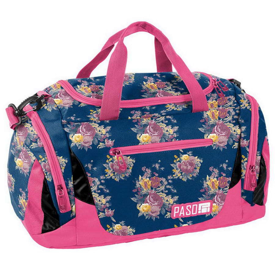 Дорожная сумка Paso Flower Pink 44 x 23,5 x 23