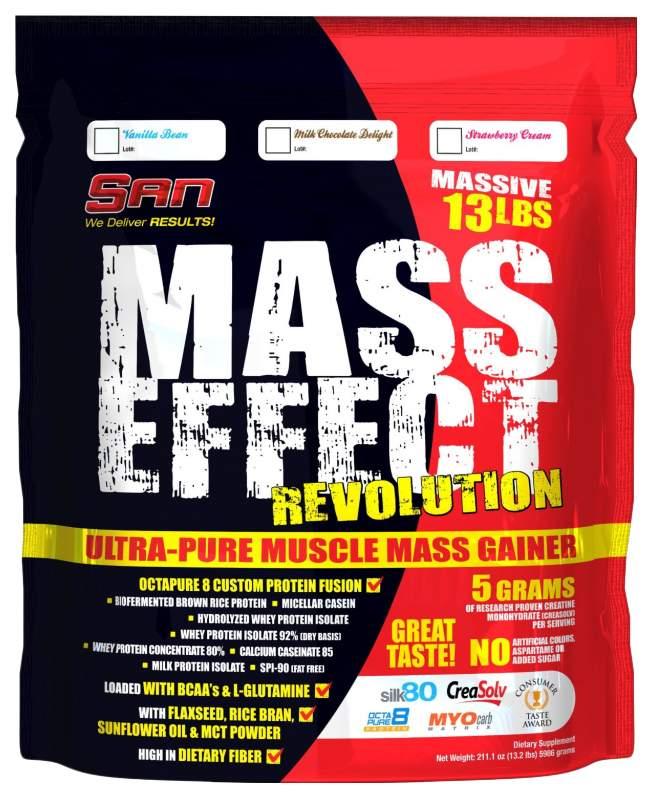 Гейнер SAN Mass Effect Revolution 5900 г Milk Chocolate Delight