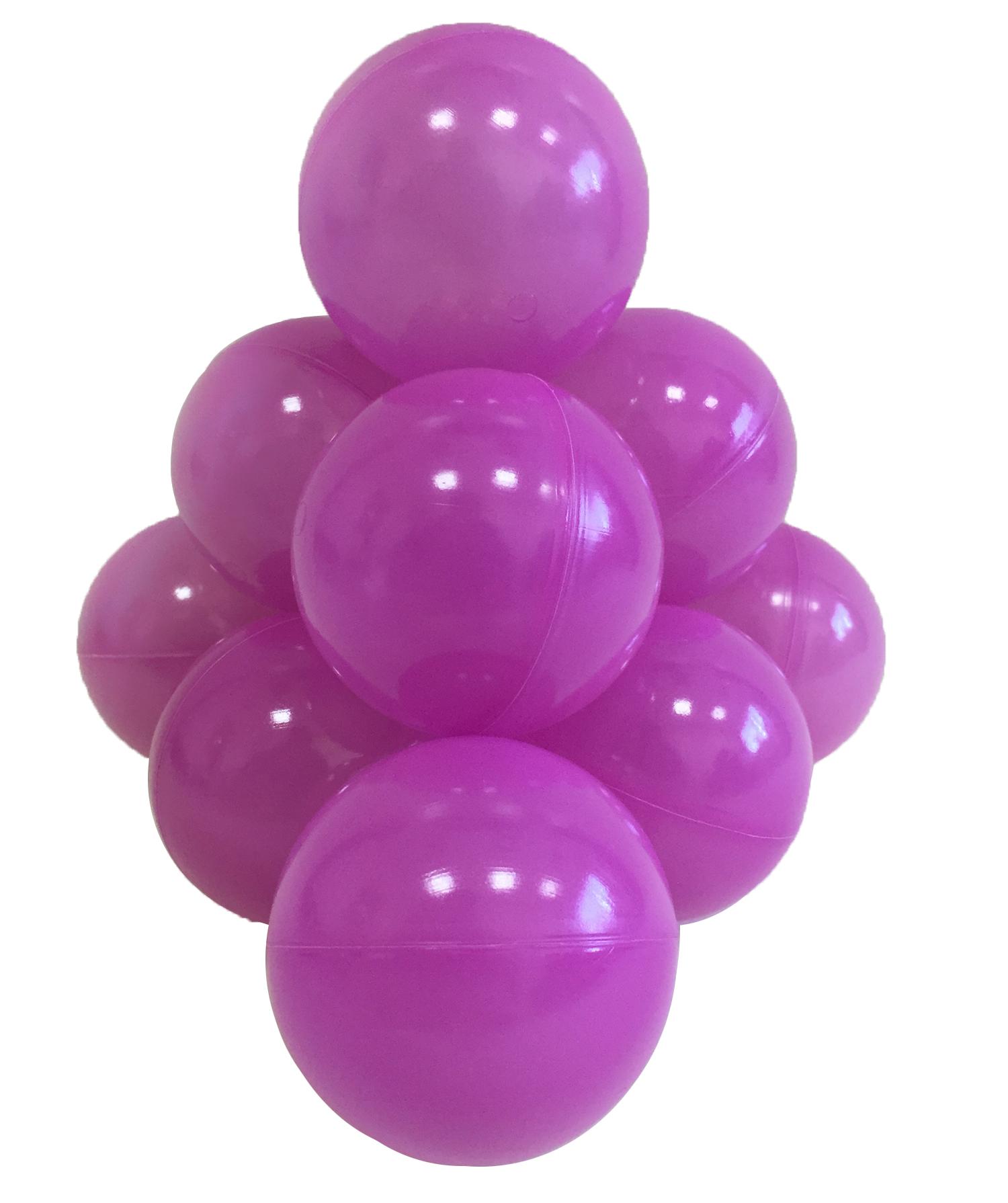 Шарики в наборе для игрового бассейна 50 шт, диам 7см, фиолетовые
