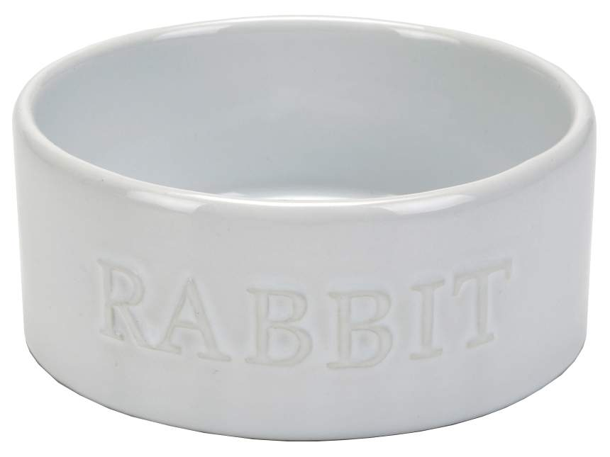 Одинарная миска для грызунов Beeztees, керамика, белый, 0.2 л
