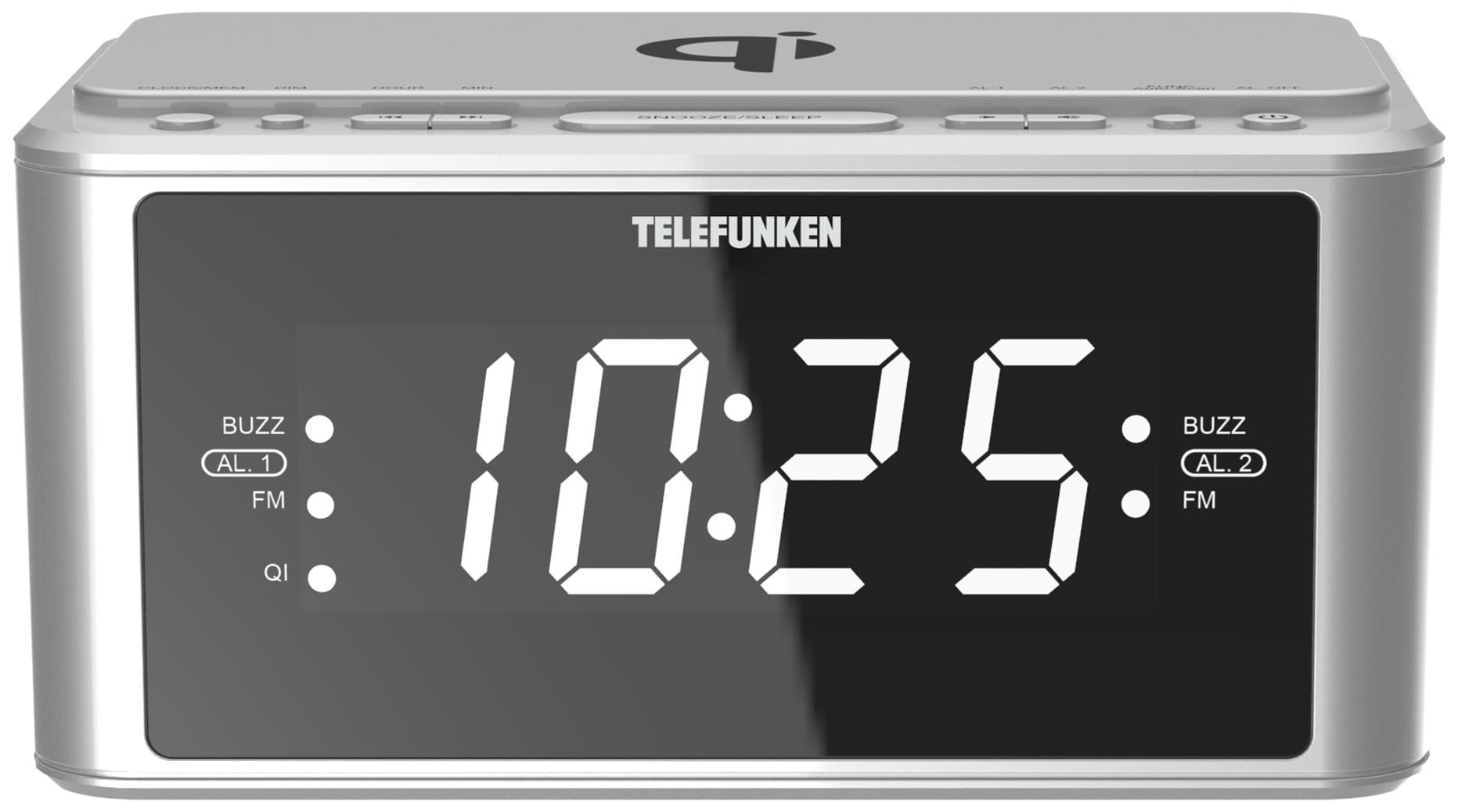Радио-часы Telefunken TF-1595U Silver