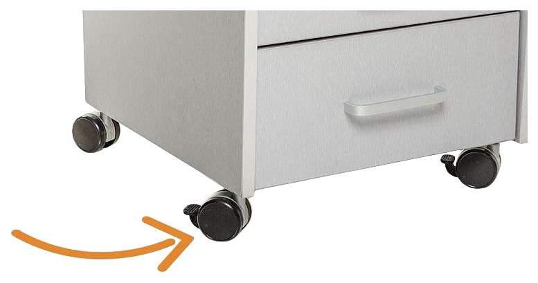 Тумбочка Comf-Pro BD-C2 (цвет обивки: оранжевый, цвет каркаса: серый, цвет товара: серый)