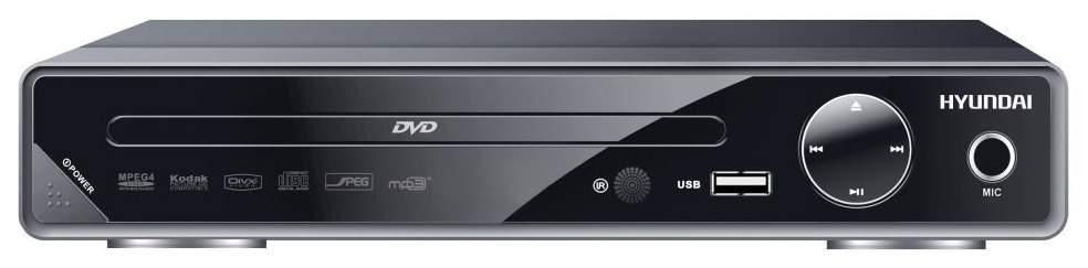 Плеер DVD Hyundai H-DVD200 Черный