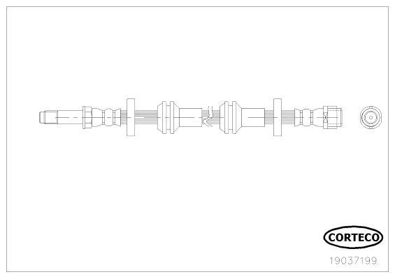 Шланг тормозной CORTECO 19037199