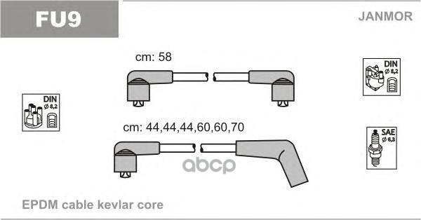 Комплект проводов зажигания JANMOR FU9