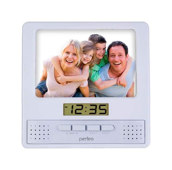 Радио-часы Perfeo Foto PF-S6005 White