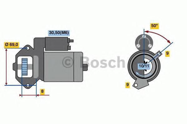 Стартер Bosch 0986022670