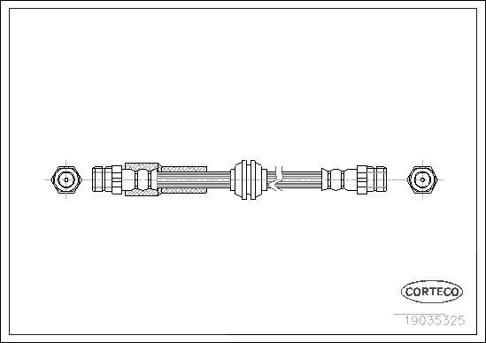 Шланг тормозной CORTECO 19035325