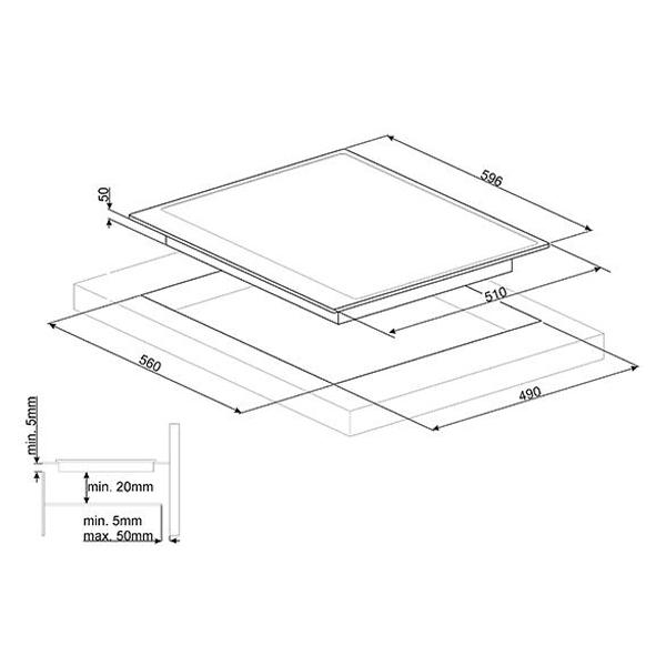 Встраиваемая варочная панель индукционная Smeg PI964X Black