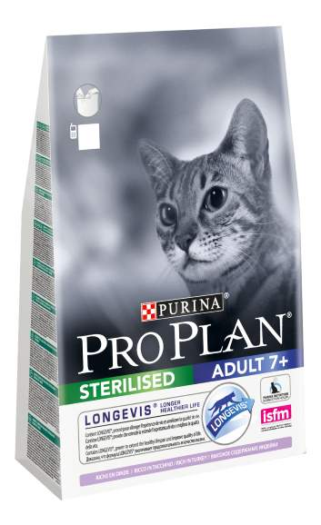Сухой корм для кошек PRO PLAN Sterilised Adult 7+, индейка, 3кг