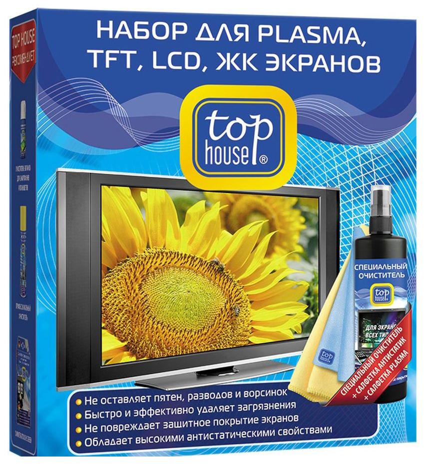 Набор для очистки экранов Top House 391596 для PLASMA, TFT, LCD, ЖК 3 предмета