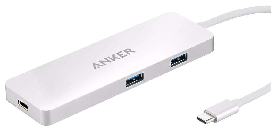 Разветвитель для компьютера Anker Premium USB-C Hub A8342H41 Silver