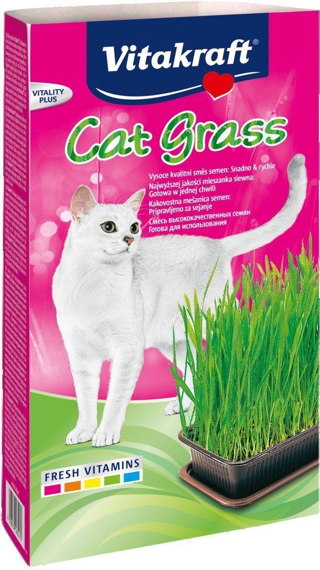 Смесь Vitakraft Cat Grass для проращивания свежей травы для кошек (50 г, Пакет) 20 шт
