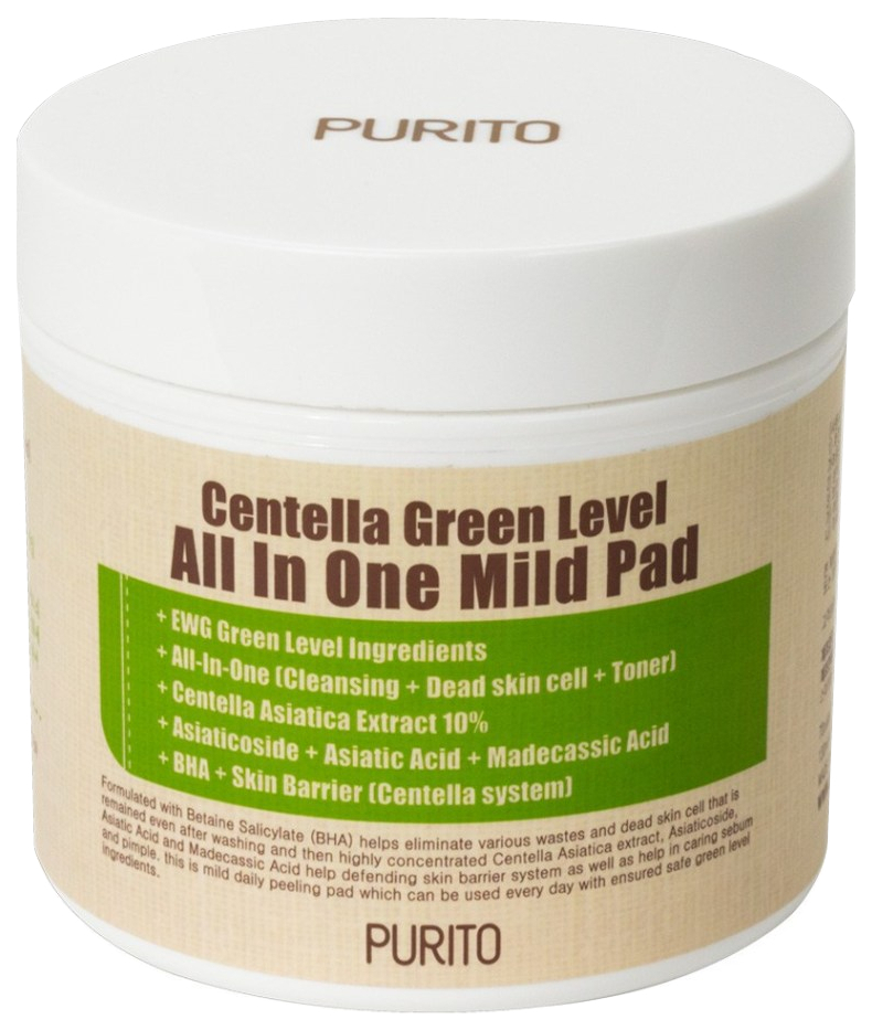 Пилинг для лица PURITO Centella Green Level All In One Mild Pad 130 мл