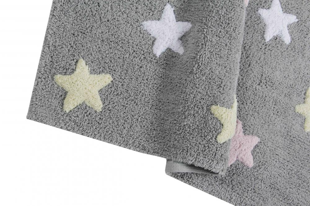 Lorena canals ковер триколор звезды stars tricolor (серо-розовый) 120*160