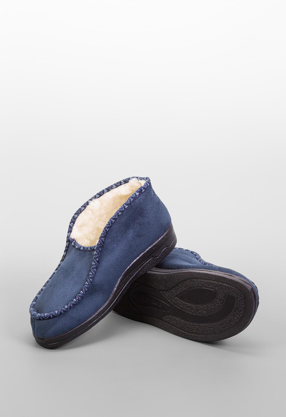 Домашние тапочки женские Anex 16001 синие 38 RU