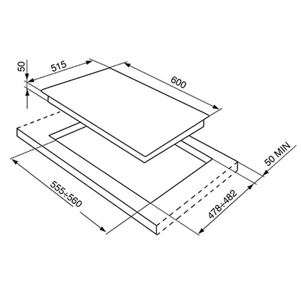 Встраиваемая варочная панель индукционная Smeg SI5643B Black