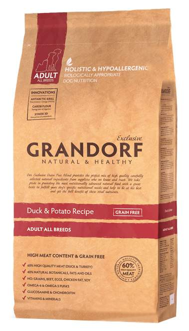 Сухой корм для собак Grandorf Adult All Breeds, утка, 12кг