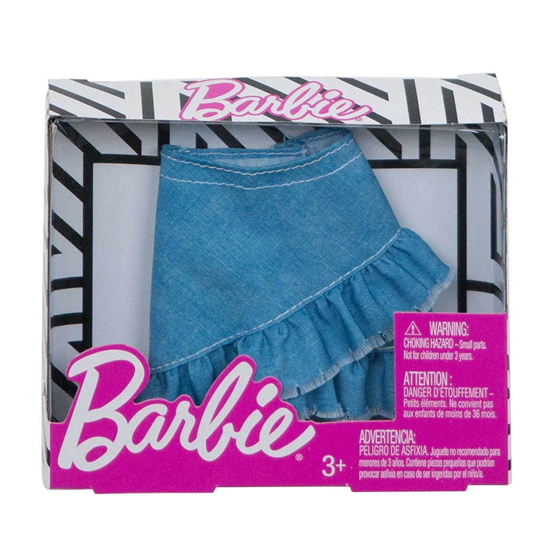 Одежда для кукол Barbie Юбка в стиле Джинс FXH85