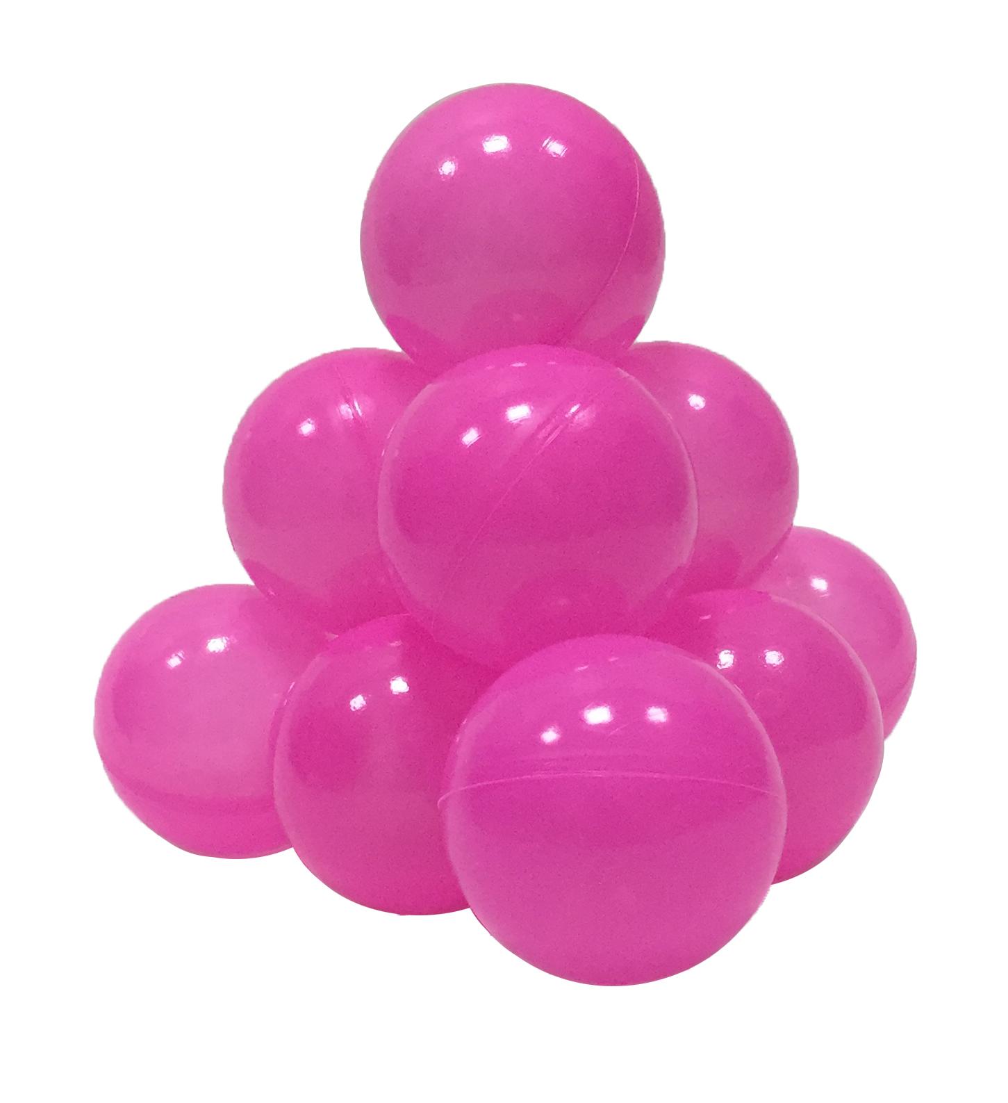 Шарики в наборе для игрового бассейна 50 шт, диам 7см, розовые
