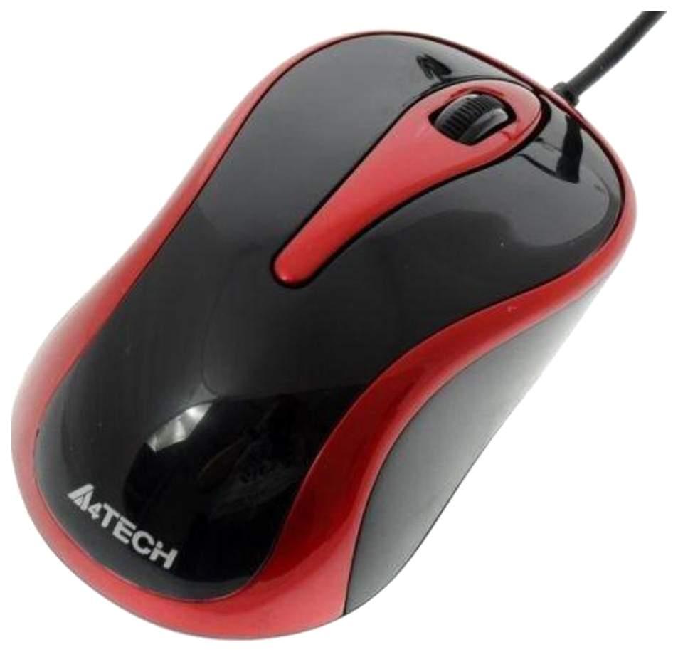 Проводная мышка A4Tech V-Track Padless N-360-2 Red/Black