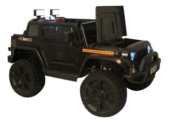 Электромобиль Jeep Wrangler черный RIVERTOYS