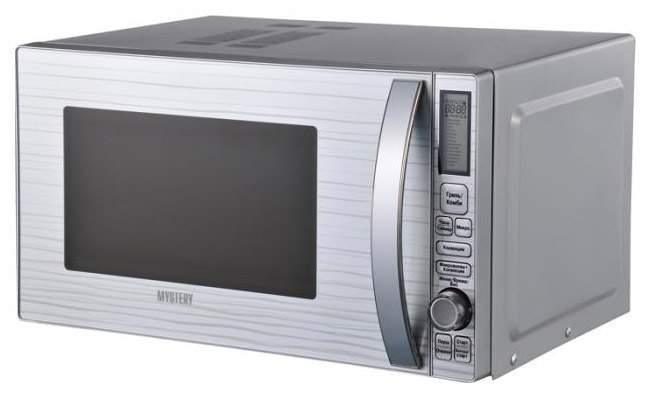 Микроволновая печь с грилем и конвекцией MYSTERY MMW-2519GC silver