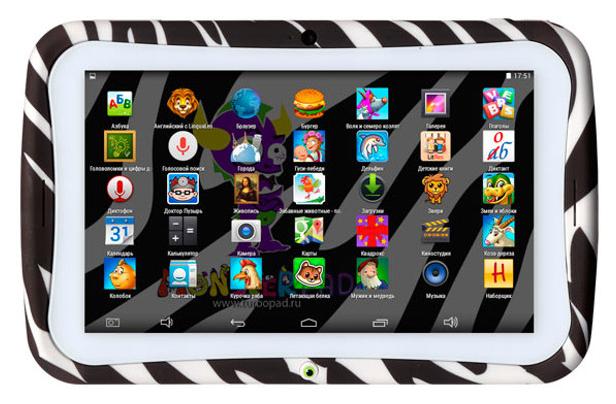 "Планшет Turbo MonsterPad 7"" 8Gb Wi-Fi Zebra"