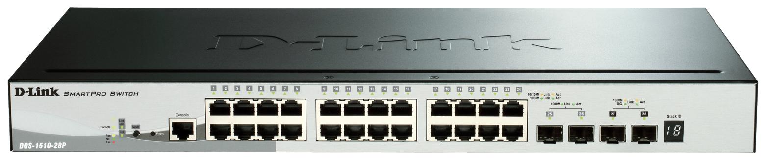 Коммутатор D-Link SmartPro DGS-1510-28P/A1A Grey/Black